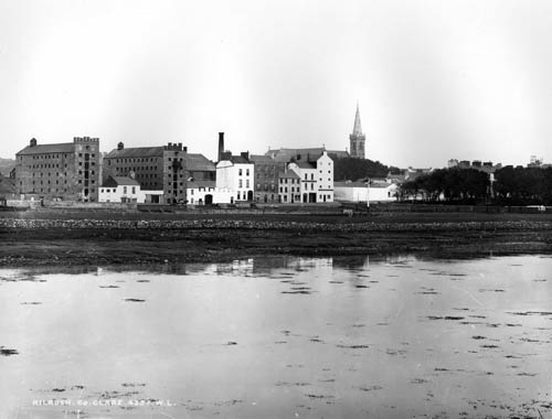 Merchants Quay before the quay walls were built