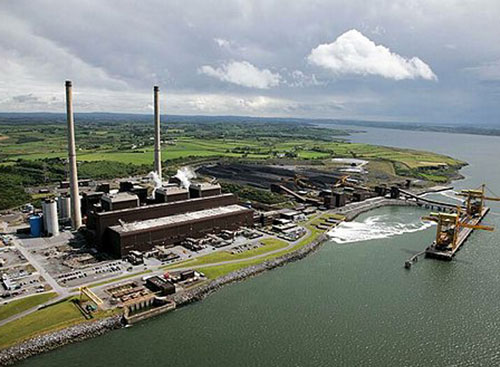 ESB Moneypoint, the biggest power generating station in Ireland