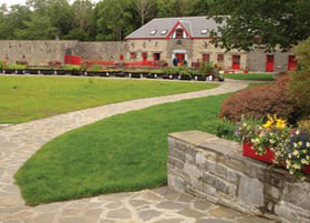 The restored stables at the Vandeleur Walled Garden