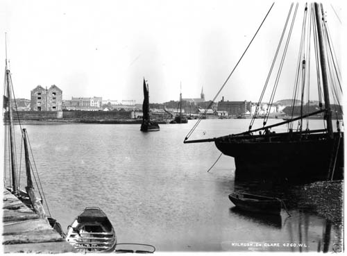 A view of the port from close to where the marina lock gates are now located